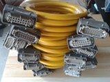 溫控器電纜連接線熱流道溫控箱成品電纜信號線,接好工業重型插座