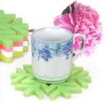 雪花形硅胶杯垫