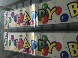 订制喜庆节日生日中小型pt激光彩带横幅.