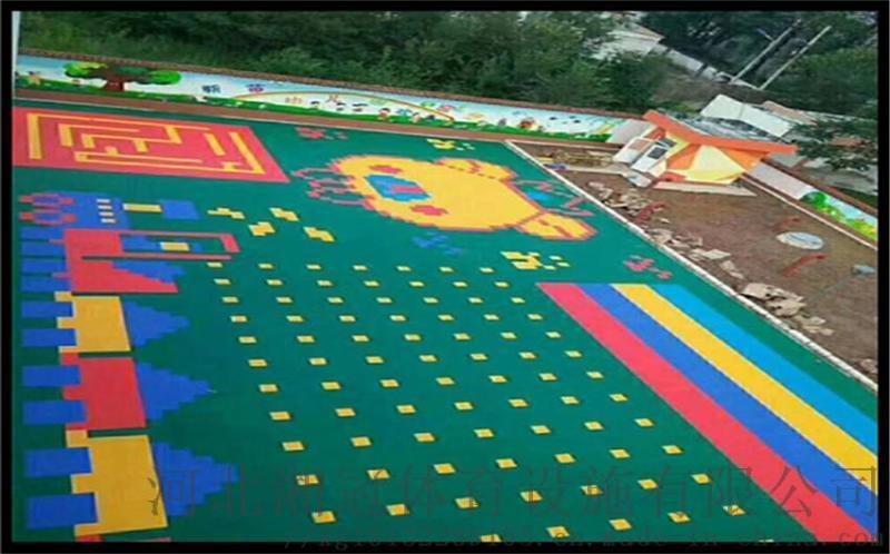 河北区气垫悬浮地板篮球场塑胶地板拼装地板图片