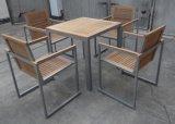新款柚木桌椅, 铝木桌椅, 户外餐桌椅(KY-9117)