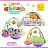 廠家直銷 妮妮雅 N6243 嬰兒健身架地毯 花型爬行墊 帶搖鈴