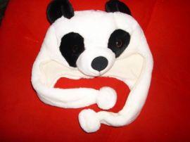 卡通熊猫帽 小狗帽 玩具小狗 小猫 工厂定做 中玩世家玩具厂