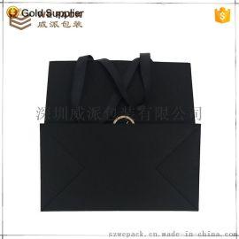 黑色牛皮紙首飾珠寶禮品購物袋