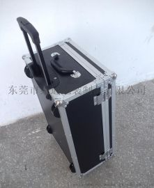 东莞市莱迪铝箱制品厂供应万向轮内置拉杆铝合金工具箱