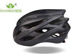 骑士户外运动骑行头盔 新款黑色纯色碳纤维头盔男女