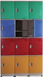 4层ABS全塑防水防锈员工更衣储物柜
