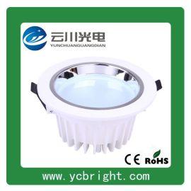 9W 4寸烤白漆压铸铝贴片黄光LED筒灯