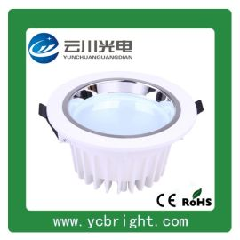 9W 4寸烤白漆壓鑄鋁貼片黃光LED筒燈
