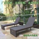 舒納和專業生產PE編藤沙灘椅休閒折疊椅純手工編織