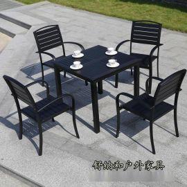 武漢咖啡廳戶外桌椅 戶外園林桌椅 高檔實木桌椅