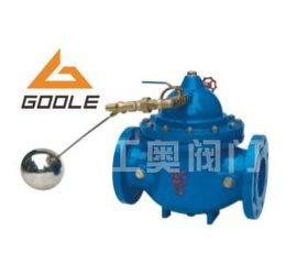100x遥控浮球阀工作原理:           当管道从进水端给水时,由于图片