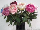 仿真花 单枝大玫瑰仿真花
