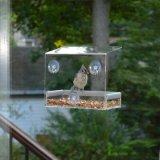 厂家供应亚克力小鸟喂食器户外喂食盒透明鸟笼