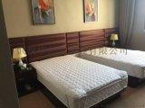 酒店床,床靠背景,电视柜,护墙饰面板,电视背景