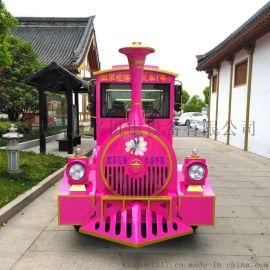 景区观光小火车无轨电动小火车游乐设备电动观光小火车
