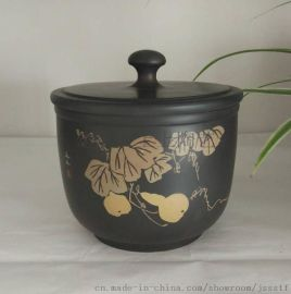 上上陶定制建水紫陶茶具茶壶茶叶罐