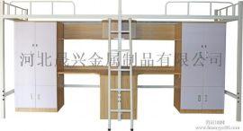多功能金属钢组合床成人带衣柜书桌大学生公寓组合床双层上下床铺