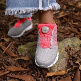 FITGO系带系统户外运动鞋免系旋转按钮调节鞋带