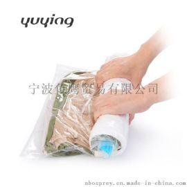 手卷式透明真空压缩袋 无需抽气工具 淘货源微商淘宝卖家一件代发