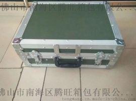 军绿色手提精品材质仪器箱