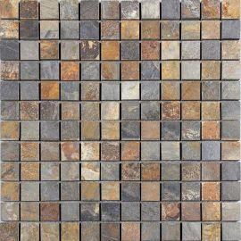 特色彩色马赛克石贴电视背景墙拼图厨房卫生间锈色文化砖促销