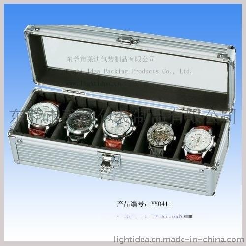 五格手表盒|手表收纳盒|玻璃面铝合金包装盒