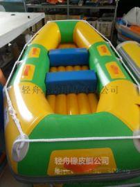 漂流船加厚充气底漂流艇2+1人水上娱乐漂流景区船冲锋舟钓鱼船滑板漂流船