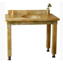 大理石台面定制 欧式米黄大理石洗手台橱柜浴室窗台 石材台面