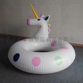 厂家福多盛直销各类PVC充气游泳圈 新款独角兽游泳圈坐骑 夏日水上休闲玩具
