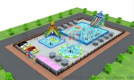 山东青岛市支架游泳池价格,水上滑梯浮具设备