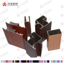 佛山鋁型材門窗廠家直銷木紋轉印鋁合金門窗