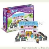 厂价直批 益智玩具 拼装积木 diy自装 小屋塑料积木