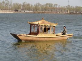 楚风木船出售江西景德镇电动观光船公园游船玻璃钢船