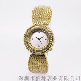 女士镶钻奢华贵气腕表石英表