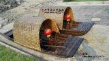 深圳厂家直销欧式装饰船中式乌篷船景观木船