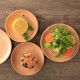厂家定制批发圆形餐具榉木小托盘点心盘 木制果盘木盘
