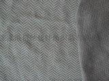 针织人字纹提花面料斜纹布