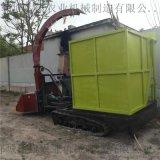 小型全自动玉米秸秆青储机 履带式饲料回收机