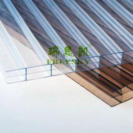 PC阳光板厂家供应 6厘茶色耐力阳光板报价 屋面遮阳棚专用材料