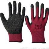厂家直销十三针乳胶皱纹手套