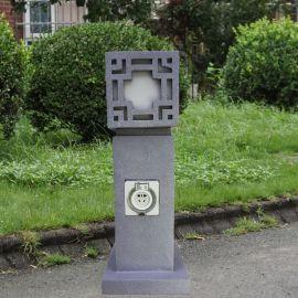 指印 景觀燈花園別墅草地燈柱 戶外防水插座柱