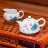 【銀銀瓷器】醴陵陶瓷工藝品飄香茶具套裝泡茶器手工釉下五彩瓷茶具定制