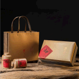 广州义统包装 生铁1673金色茶叶罐茶叶包装礼盒高档定制批发