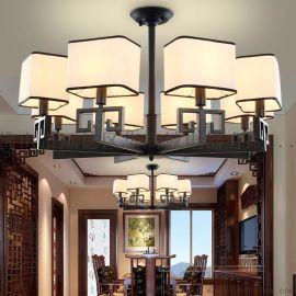 現代簡約新中式吊燈客廳個性創意工業風吊燈餐廳中式燈具