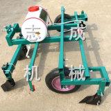 志成生产拖拉机带喷药覆膜机农用土豆地膜覆盖机