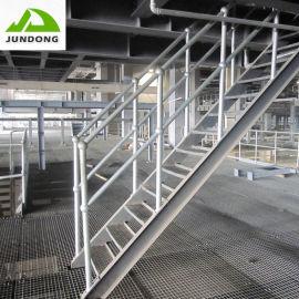 不锈钢楼梯热镀锌钢格踏步板异形沟盖钢格板 厂家直销