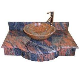北京花岗岩洗手盆 异型酒店石材加工 国产浴室石材脸盆