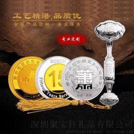 金银礼品定制金银纪念币金银币定做公司企业周年庆奖励员工同学聚会金币制作银章定做