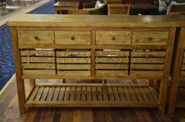 实木餐边柜 复古做旧工业风主题餐厅边柜 更多款式可定制